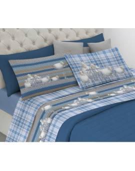 Completo invernale letto Flanella Felpate Pecorelle FEDERE DOUBLE made Italy