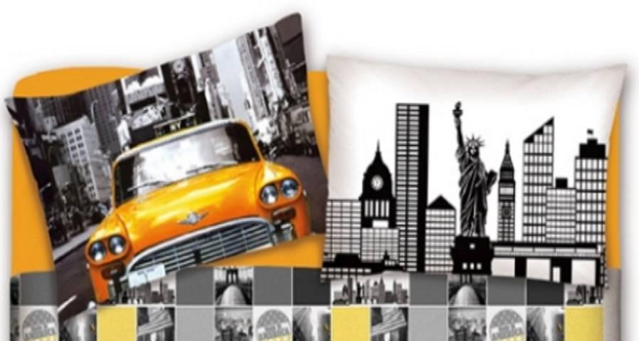 Il Letto Con Fantasia New York Lenzuola Maxi Per Letti Matrimoniali Si