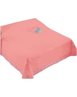 COPRILETTO coperta cotone piquet con frange letto una piazza singolo