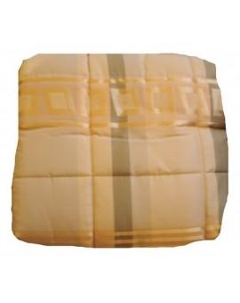 Trapunta piumone invernale letto singolo giallo e panna a righe e quadri