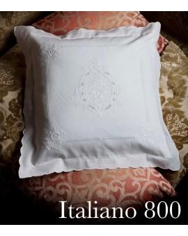Federa Copricuscini Intagliati E Ricamati A Mano Made In Italy Lino Qu