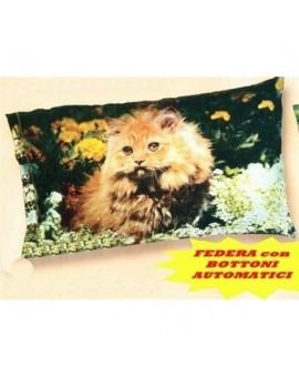 Completo Lenzuola letto matrimoniale animali cagnolini gattini cotone natura