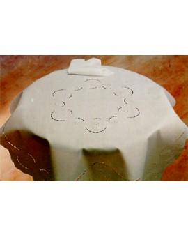 Copri tavolino RICAMATO A MANO made in Italy LINO ELIDE