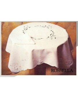 Centrotavola Ricamata A Mano Made In Italy Cotone Rossella