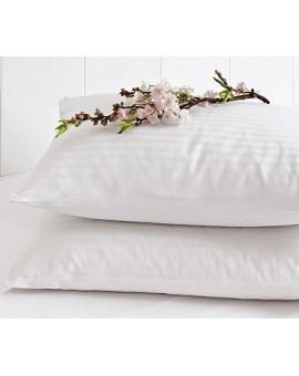 Coppia SOPRA FEDERA per guanciale bianca jacquard zip cuscino letto cotone