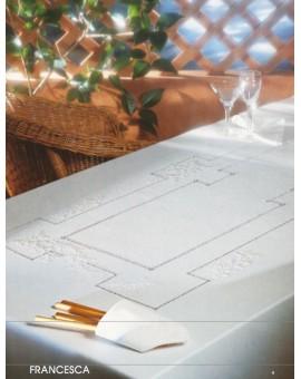 Tovaglia Ricamata A Mano Made In Italy Cotone Francesca