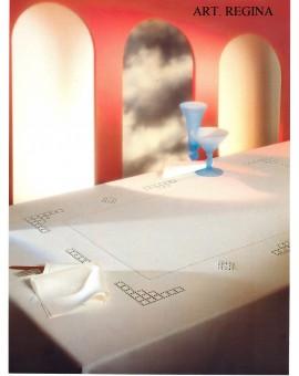 Tovaglia Ricamata A Mano Made In Italy Cotone Regina