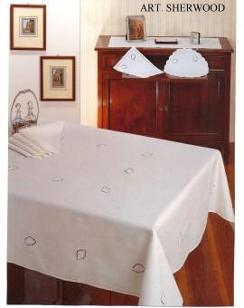Tovaglia Ricamata A Mano Made In Italy Cotone Sherwood