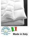 Vero Piumino d'oca bianco Trentino 4 stagioni DAUNEX Italia letto matrimoniale