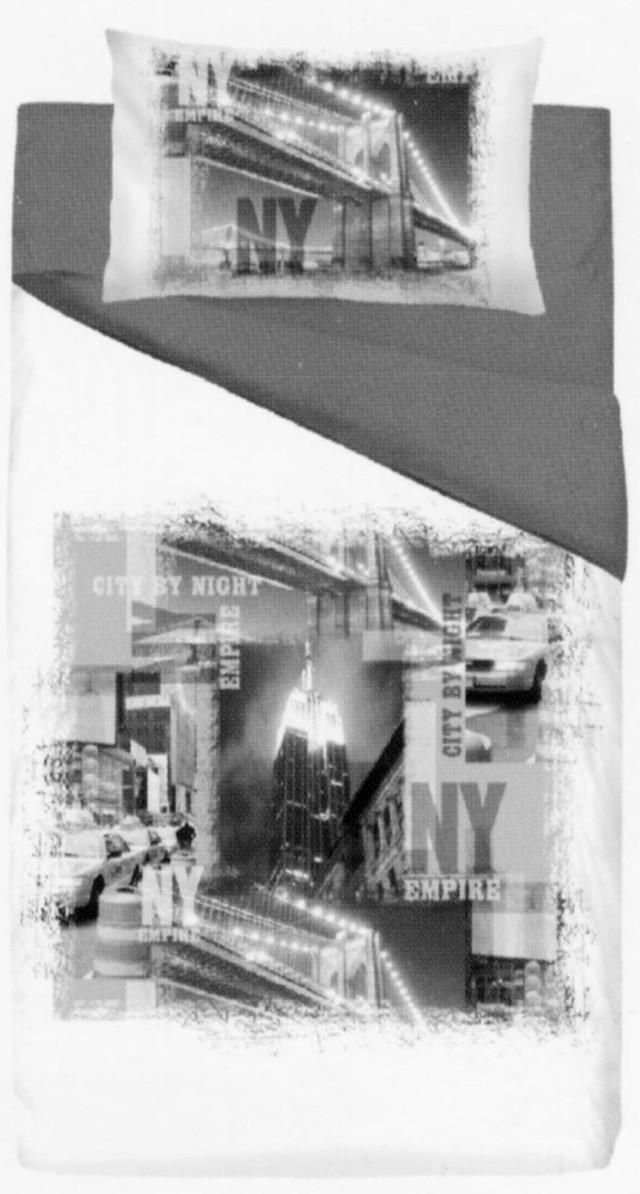 Copripiumino Letto A Una Piazza Con Città Di Ny New York Empire In Bi