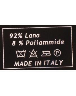 Coperta Lana PLAID MOHAIR letto singolo una piazza scozzese Panna made Italy