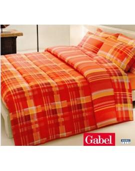 Trapunta piumone invernale letto una piazza e mezza Gabel Righe Colori Arancio Rosso