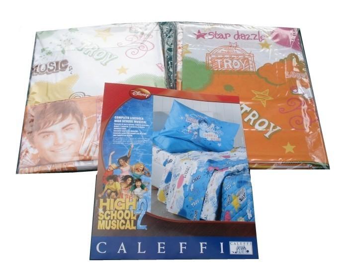 Completo Lenzuola Caleffi High School Musical 2 Disney Una Piazza Lett