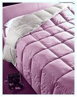 Piumino Trentino piuma OCA cotone tinta unita letto singolo grigio viola lilla
