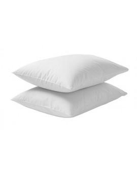 Coppia FEDERE per guanciale cuscino letto 100% cotone tinta unita cm 50x80