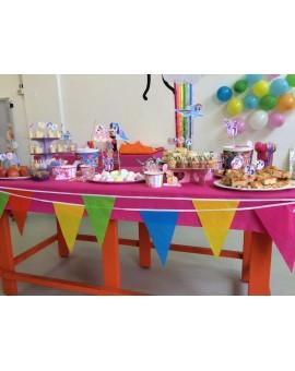 Tovaglia plastificata PARTY per feste compleanno in tinta unita