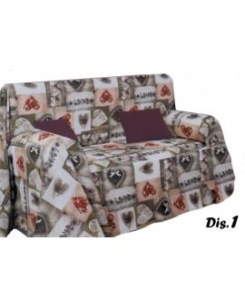 Copritutto gran foulard telo arredo divano letto copertura fantasia colore