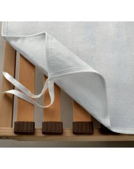 COPRI RETE doghe con ganci lacci letto matrimoniale salva protegge materasso