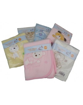 Plaid Pile Baby Microfibra Coperta Bambino Ricamo Idea Regalo Panna Ro