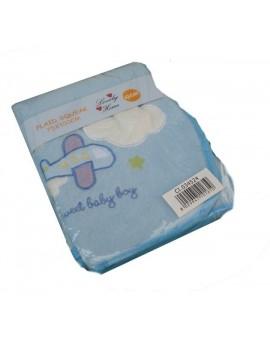 Plaid pile Baby microfibra coperta bambino ricamo idea regalo panna rosa azzurra