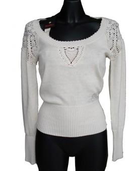 Abbigliamento Donna Maglione Guru Cotone Lana Lavorato Uncinetto Affar