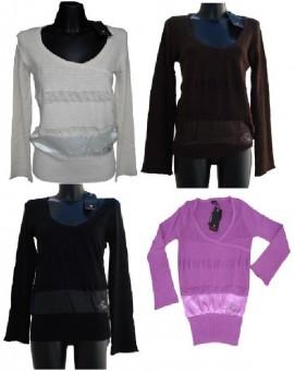 Offerte pazze Comparatore prezzi  Abbigliamento Maglione Donna Guru Angora Cachemire Con Inserto Raso E  il miglior prezzo