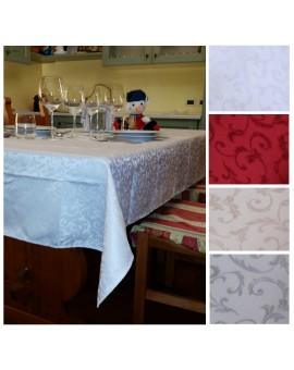 Tovaglia Antimacchia Idrorepellente Jacquard tavolo cucina no stiro QUADRATA