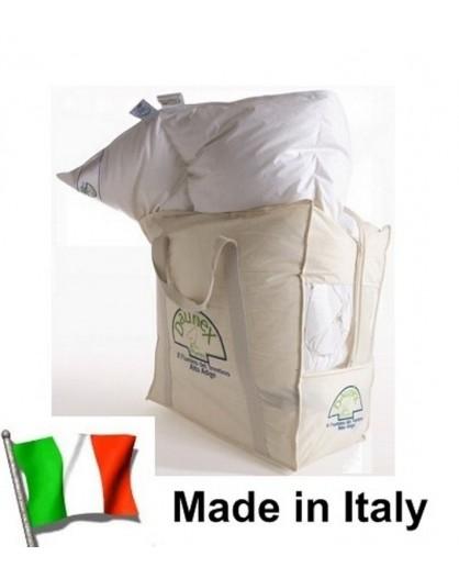 Piumino d'oca Bianco con Piumetta letto 1 piazza e mezza DAUNEX Made Italy Trentino
