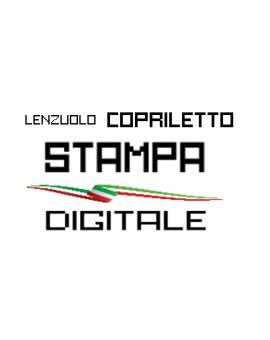 Lenzuolo Copriletto effetto 3D stampa Digitale Made in Italy Cotone