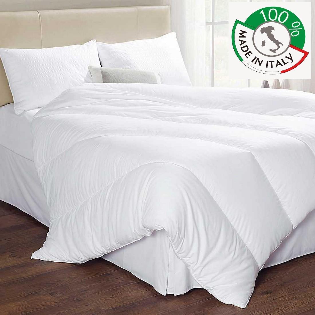 Piumino Bianco Estivo Made In Italy 1 Piazza E Mezza Anallergico Micro