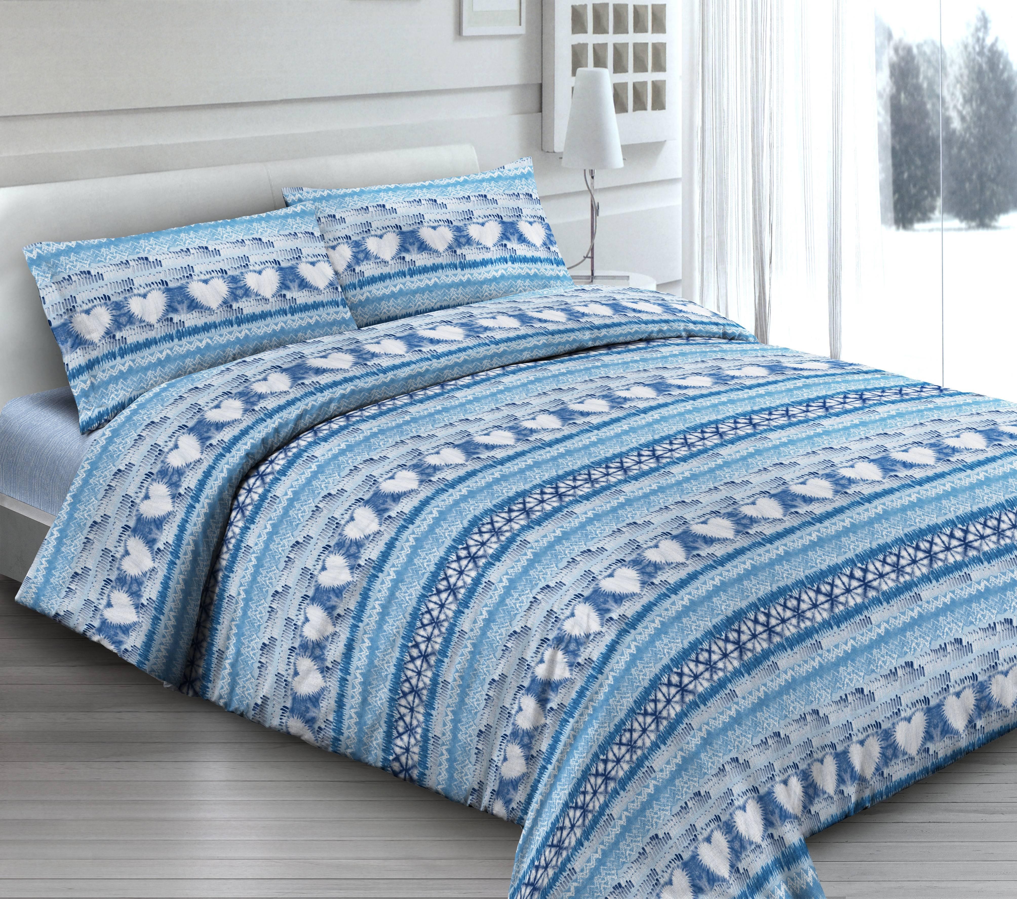 Rendi Unico Il Tuo Letto Con Lenzuola Effetto Batik Blu Made In Italy