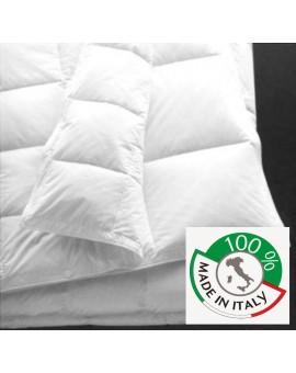 Piumino bianco microfibra 4 stagioni 2 piumini da 1p e mezza Made Italy