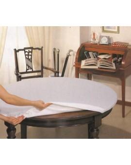 Mollettone Tavolo Rotondo Cm 135 Bianco Con Elastico Salvatavolo Made