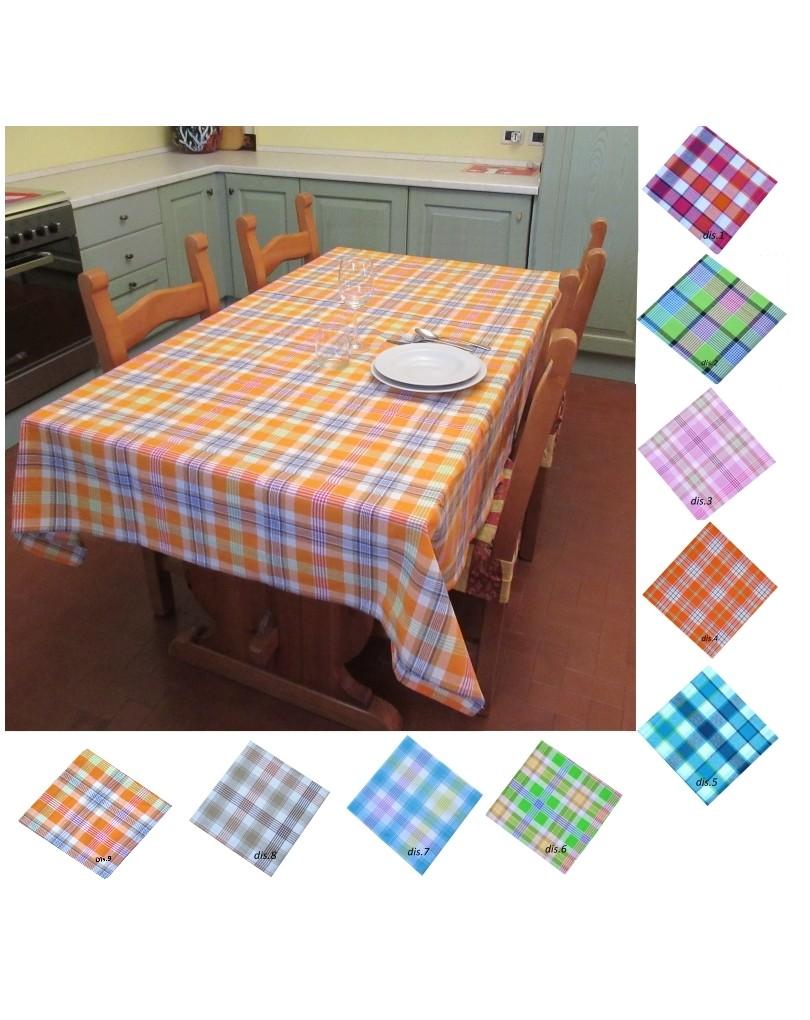Tovaglia rettangolare tavolo cotone scozzeze