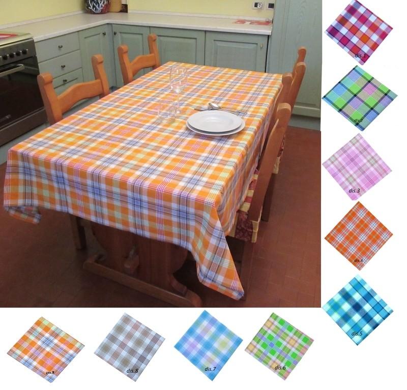 Tovaglia-scozzese-per-6-persone-Tinto-in-Filo-per-tavolo-da-cucina