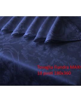 Tovaglia Maxi 18 persone Rettangolare con Orlo Smerlato puro Cotone Tovaglioli