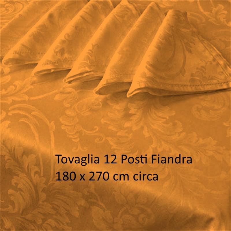 Offerte pazze Comparatore prezzi  Tovaglia Fiandra 12 Posti Tinta Unita Cotone Orlo A Giorno Arancio  il miglior prezzo