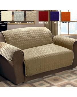 Copridivano copertura divano tinta unita ANTI MACCHIA 3 posti no elastico NOVITA