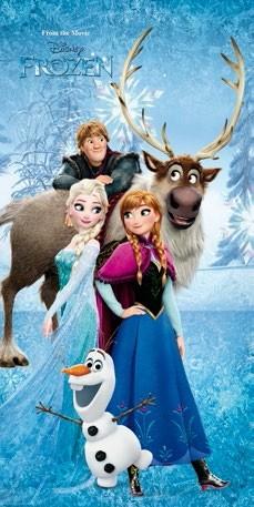 Disney Personaggi Frozen Elsa Anna Sven Telo Salviettone Asciugamano S