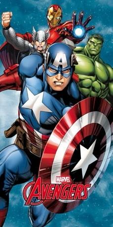 Avengers Capitan America Iron Man Hulk Telo Mare Salviettone Asciugama