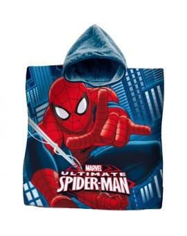 Poncho poncio mare accappatoio bambini SPIDER-MAN film UOMO RAGNO spugna cotone