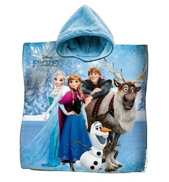 Accappatoio Poncho Telo Mare Bambina Disney Frozen Elsa Anna Spugna