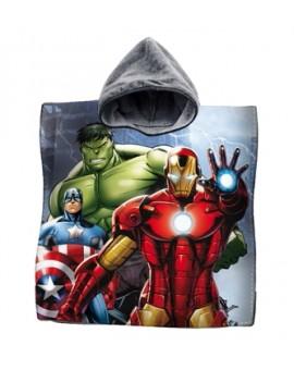 Accappatoio Poncho mare asciugamano poncio bambini AVENGERS Iron Man Hulk film