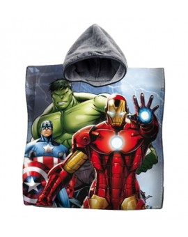 Accappatoio Poncho mare asciugamano bambini AVENGERS Iron Man Hulk