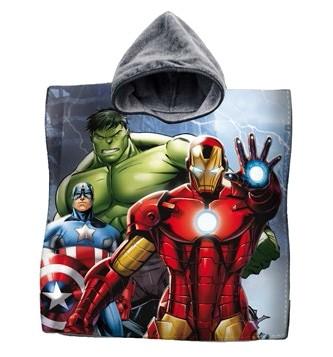 Accappatoio Poncho Mare Asciugamano Poncio Bambini Avengers Iron Man H