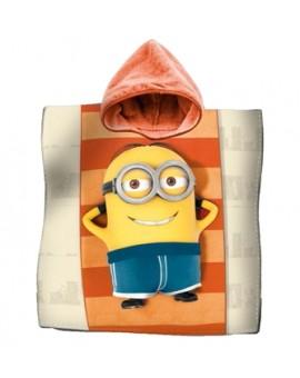 Accappatoio Poncho mare asciugamano poncio bambini MINIONS cotone Film