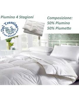 Piumone OCA del Trentino 4 stagioni 50 piumino 50 piumette letto 1 piazza e 1/2
