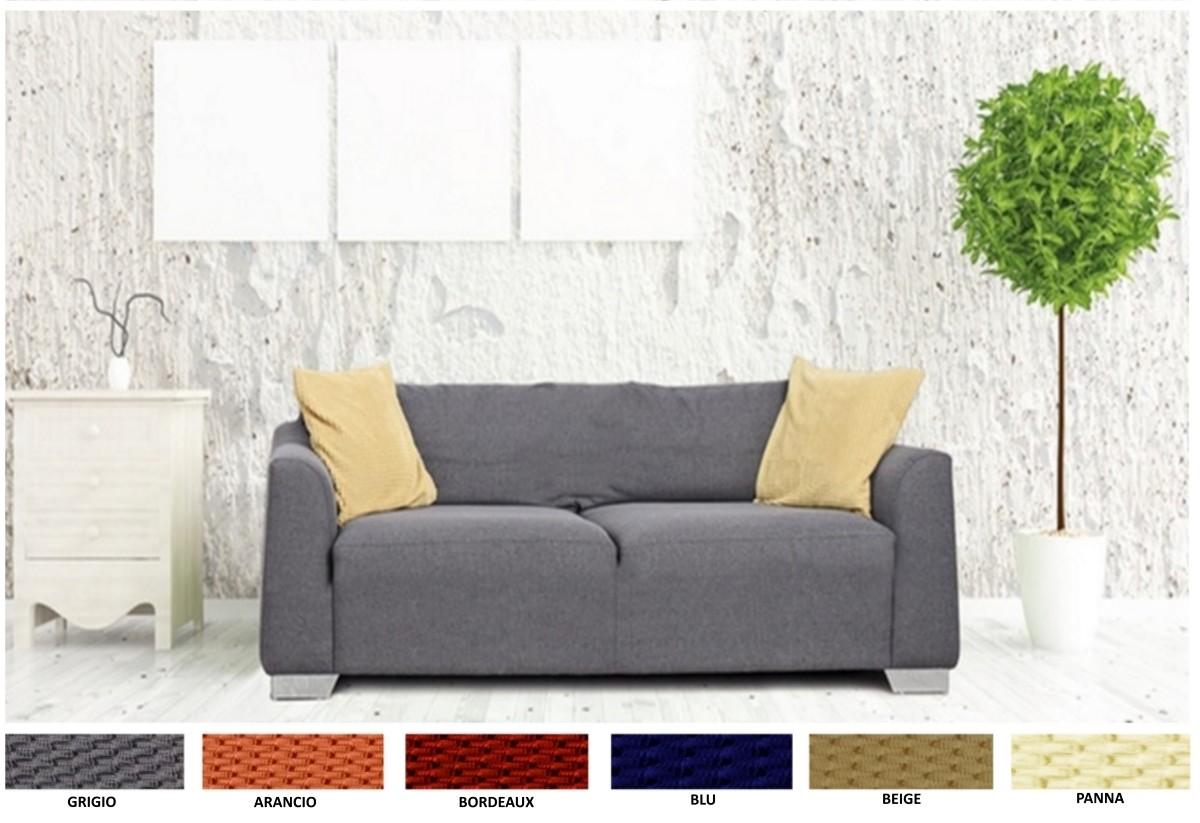 Copridivano 2 posti elasticizzato copertura divano tinta - Copridivano con chaise longue ...