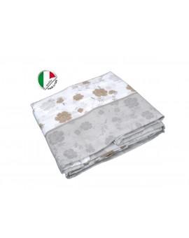 Completo Lenzuola Letto Invernale 1P e mezza 100% caldo cotone made in Italy