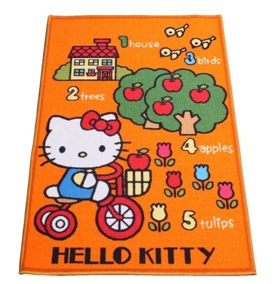 Tappeto Hello Kitty Camera Bambina Misura 120x80 Arancio Affare